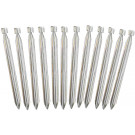 "Silver Metal Heavy Duty Tent Stakes (12"") - 12 PACK"